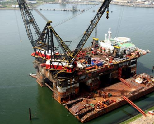 Kraanschepen Heerema stappen over van dieselgeneratoren op windenergie